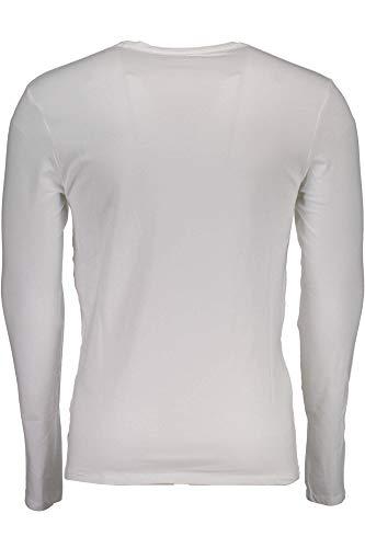 Guess M84i37j1300 Uomo shirt Maniche Twht Jeans T Bianco Lunghe ZZnSwUqxr