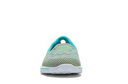 Skechers Women Go Walk 2 Captivate 13979 Aqmt Slip On Fit Tessuto Morbido Tessuto Aqua Multi
