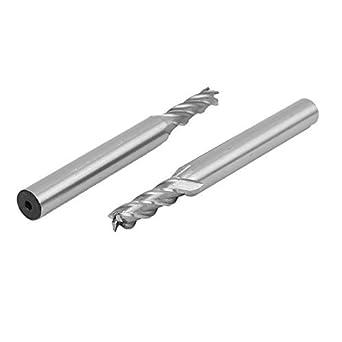 eDealMax 3/16 pulgadas de Corte Dia 4 espirales Flautas caña recta cortador herramienta HSS