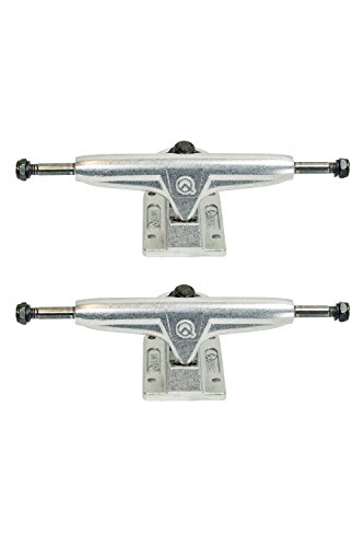 Quest Boards 5.25″ Matte Silver Double Barrel Skateboard Trucks – DiZiSports Store