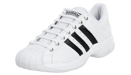 adidas Men's Superstar 2G Steel Basketball Shoe,White/Black/Silver ...