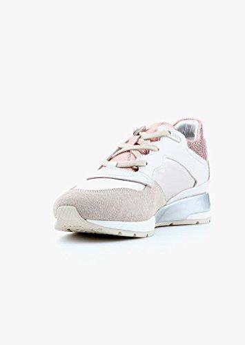 Geox D62n1b-0ak12/C0716 - Zapatos de cordones para mujer Off White/Beige