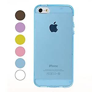 SHOUJIKE Solid Color Smooth Surface Soft TPU Case for iPhone 5/5S , White
