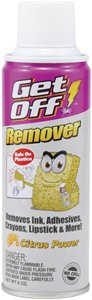 GETOFF INK AND ADHESIVE REMOVER BY BLOWOFF (1 X 6OZ CAN) REMOVES MARKER, INK ADHESIVE & MORE