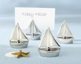 - Shining Sails Silver Place Card Holders - Set of 4