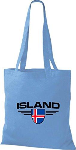 Sky Shirtstown Países Island De Bolsa Land Emblema Tela gwg04rq
