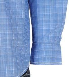 Panhandle Mens Plaid Long Sleeve Button Up Shirt L Blue