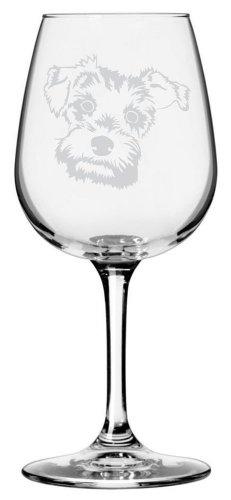 Miniature Schnauzer Dog Themed Etched All Purpose 12.75oz Libbey Wine Glass