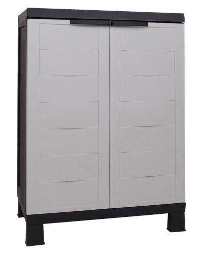 Ondis24 Kunststoffschrank Small Prestige Multifunktionsschrank abschließbar mit Füßen 67 x 37 x 93 (H) cm