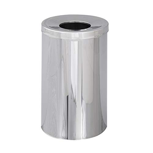 Safco Products 9695 Reflections By Safco Open Top Trash Can, Chrome
