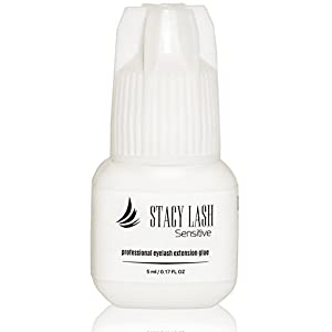 Sensitive Eyelash Extension Glue Stacy Lash 5 ml / LOW Fumes / Professional Medical Grade Black Lash Extension Adhesive / Drying time 5 - Seconds / Retention - 5 weeks