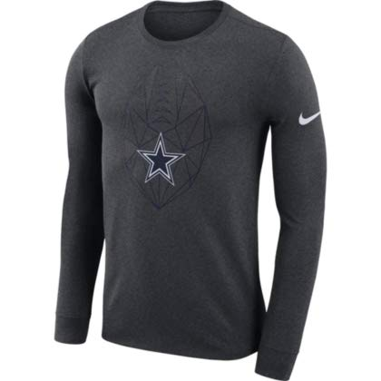 - Dallas Cowboys NFL Men's Icon Tee, Charcoal Heather, X-Large