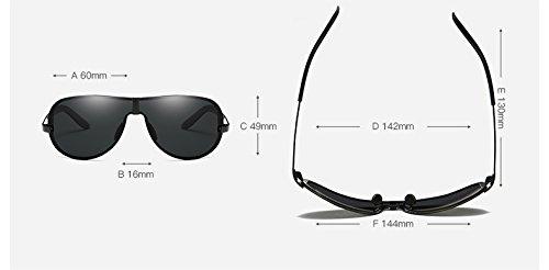 sol polarizado para sol Gafas Gafas de de sol para hombre Gran Ruanyi de moda Polaroid marco Gafas Gafas sol sol Piloto de sin Silver hombre Mu sol adultos moda de para Espejo de de UV400 sol Gafas de Gafas t01OqwO