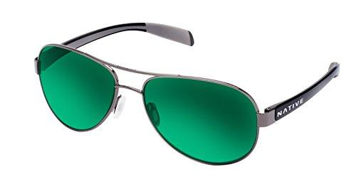 Native Eyewear Patroller Polarized Sunglasses, Gunmetal/Iron ()