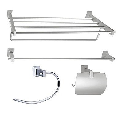 Aluminum 4-piece Bathroom Accessory Set (1041-LES-6600+6601+6608+6609)