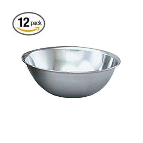 Vollrath 47932 Mixing Bowl, 7-3/4 Diameter, Stainless Steel, 1-1/2 Quart (Case of 12) (12, 1-1/2 Quart)