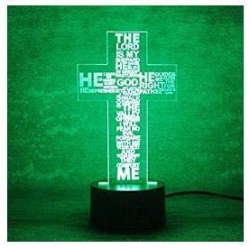 3D Die Jesus   Kreuz Optische Illusions Lampen, Tolle 7 Farbwechsel Acryl  Berühren Tabelle