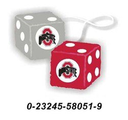 Ohio State Buckeyes Fuzzy Dice *SALE*