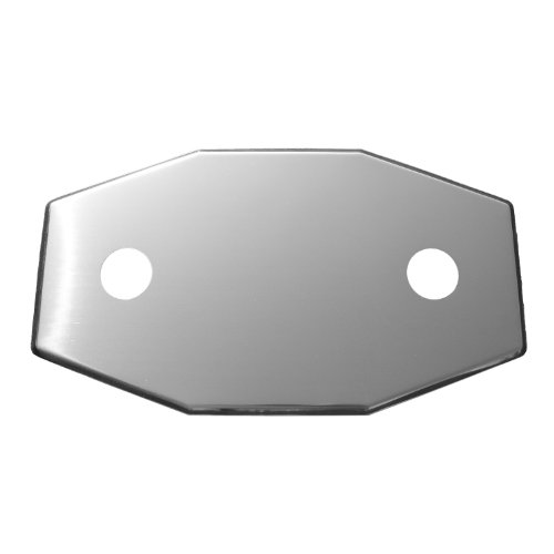 LASCO 03-1652 Smitty Plate Two Hole Used to Cover Shower Wall Tile, Stainless Steel