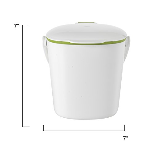 OXO Good Grips Easy Clean Compost Bin, White