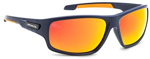 Officially Licensed NFL Sunglasses, Denver Broncos, 3D Logo on Temple - 100% UVA, UVB & UVC - Sunglasses Denver Prescription