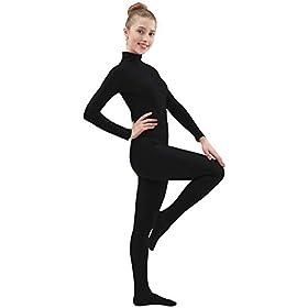 Ensnovo Womens Spandex Zentai Suits One Piece Footed Unitard