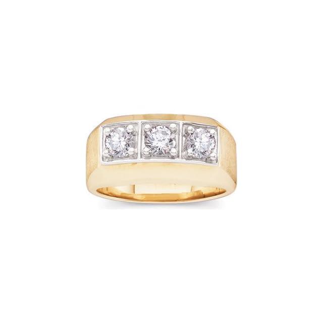 1 CT TW 14K Yellow Gold Gents Diamond Ring
