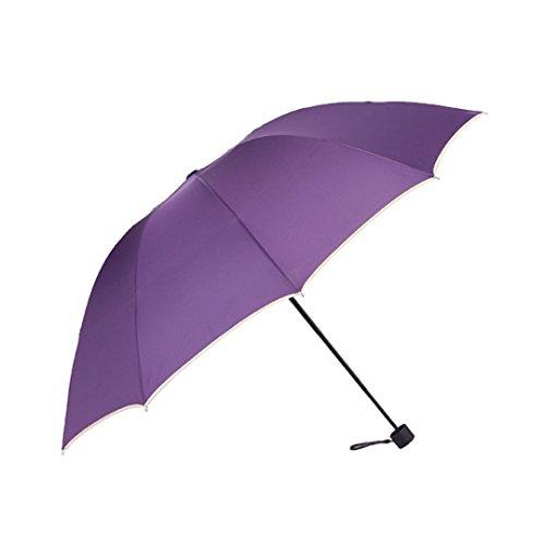 Marca west Simple Anti-UV Parasol Folding Sun/Rain Windproof Umbrella