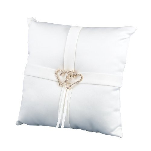 - Sourced Hortense B. Hewitt Wedding Accessories, Ring Bearer Pillow, Ivory With All My Heart, 8-Inches x 8-Inches