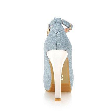 Le donne sexy elegante sandali donna tacchi Primavera Estate Autunno Inverno altri ufficio sintetico & Carriera Party & abito da sera Stiletto Heel Rhinestone SequinBlue viola , blu , us6 / EU36 / UK4