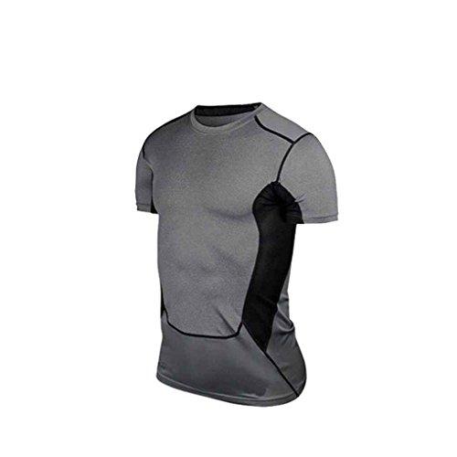 LUFA Rapide manches courtes Homme Dry Compression shirt pour Course à pied Cyclisme Basket-ball Football