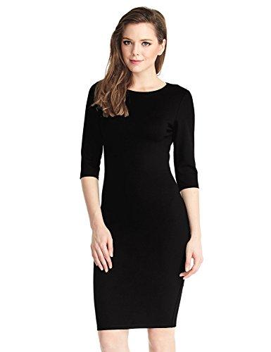 LookbookStore-Womens-Formal-Bodycon-Pencil-Sheath-Knee-Length-Solid-Color-Dress