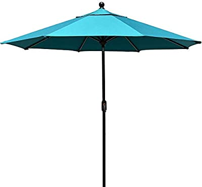 EliteShade FadeSafe 9ft Patio Umbrella Outdoor Table Market Umbrella with Push Button Tilt and Crank with Ventilation