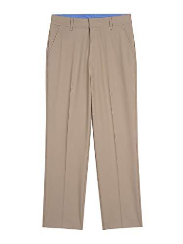 IZOD Boys' Big Bi-Stretch Flat Front Dress Pant, Khaki, 14