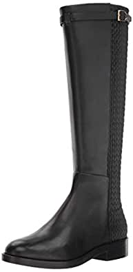 Cole Haan Women's Lexi Grand Stretch Strap Boot Mid Calf, Black Leather, 5 B US