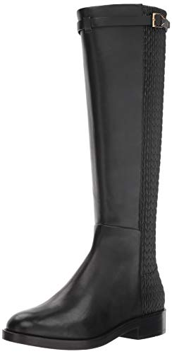 Cole Haan Women's Lexi Grand Stretch Strap Boot Mid Calf, Black Leather, 5.5 B -