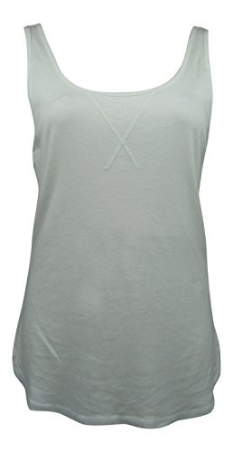 Three Dots Women's Sleeveless Tank Top Shirt (Small, White)