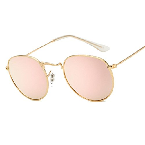 G&Kshop Reflective Lens Polarized Sunglasses Round Outdoor Sports Glasses - Pink Sunglasses D&g