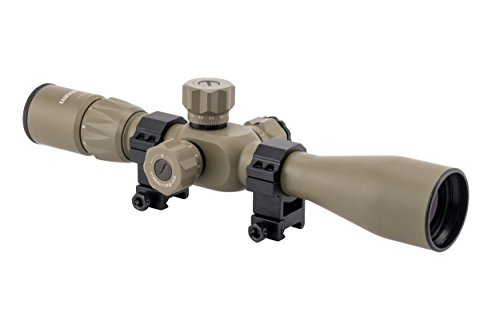 Monstrum Tactical 4-14x44 First Focal Plane (FFP) Rifle Scope with Rangefinder Reticle and Adjustable Objective Lens (Flat Dark Earth)