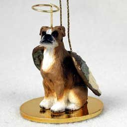 - Boxer Angel Dog Ornament - Uncropped Ears