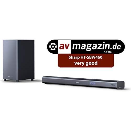 chollos oferta descuentos barato SHARP HT SBW460 3 1 Dolby Atmos Barra de Sonido con Sonido Envolvente Virtual 3D y subwoofer inalámbrico Bluetooth Experiencia 4K HDMI ARC CEC y Potencia Total de 440 W Color Negro