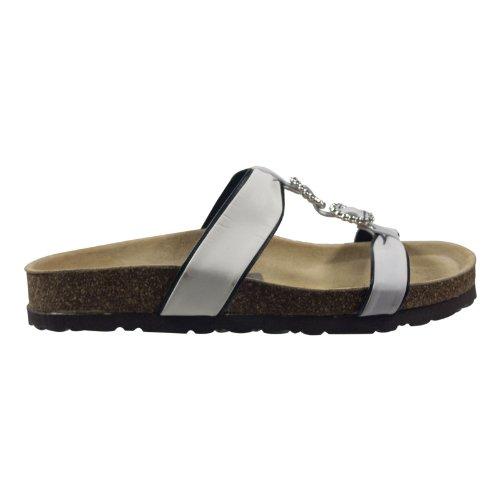 Ornela Brenti 33260-505 Damen Schuhe Premium Qualität Pantolette Weiß (weiss)