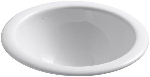 (KOHLER K-2298-0 Compass Self-Rimming Undercounter Bathroom Sink,)