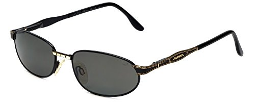 Alpina Vintage Designer Sunglasses Spyder in Black & Gold with Grey - Sunglass Alpina