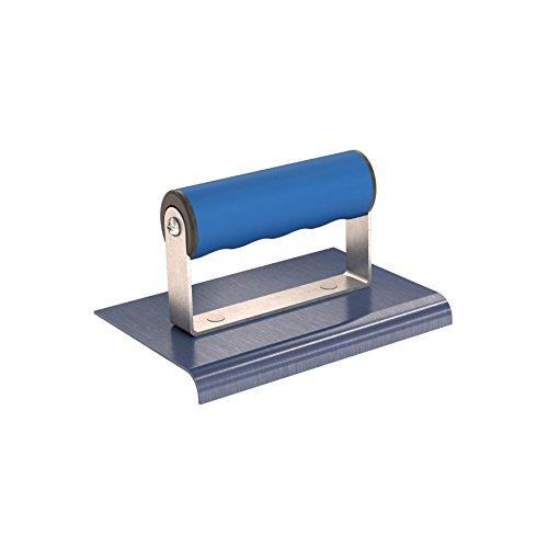 Bon 22-719 6-Inch by 4-Inch Blue Steel Sidewalk Edger, 3/8-Inch Radius 1/2-Inch Lip and Comfort Grip Handle