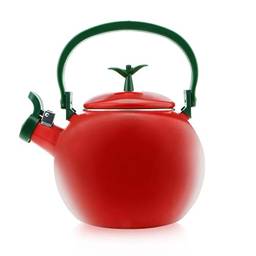 Gourmet Art Apple Enamel-on-Steel Whistling Kettle