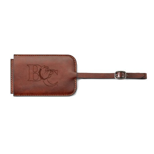 Barton Fabrizio Brown Luggage Tag 'Official Logo Engraved' by CollegeFanGear