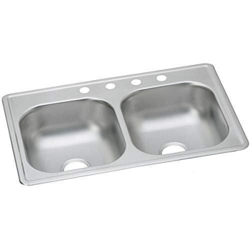 Dayton DSE233193 Equal Double Bowl Drop-in Stainless Steel S
