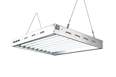 DoubleLux DL8028 T5 Fluorescent 2Ft 8 Lamps w 6500K and 20000 Lumen Grow Light System