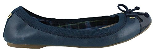 Womens Sperry, Slip Elise Su Appartamenti In Pelle Blu Scuro